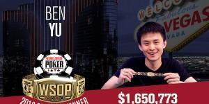 【扑克反水】Ben Yu赢得WSOP $50,000豪客赛冠军