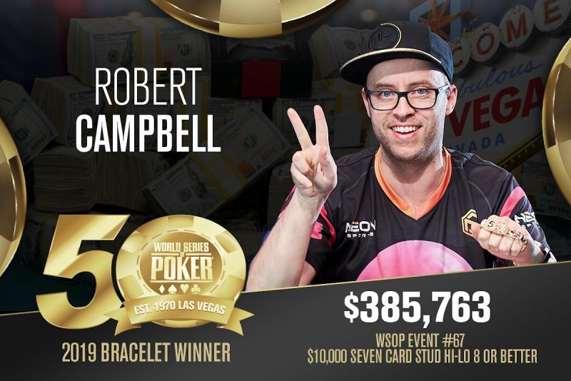 """""""我是WSOP年度玩家最有竞争力的选手""""——Robert Campbell"""