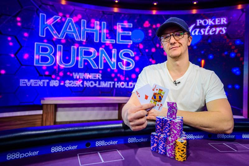 扑克大师赛:Kahle Burns斩获$25,000 NLH胜利,Sam Soverel领跑玩家排行榜