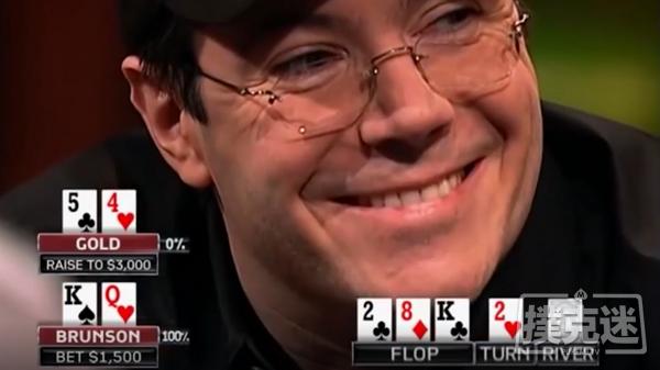绝命诈唬撞到钢板,Jamie Gold笑容逐渐消失;真的很上头!Jamie Gold两把牌直接出局!