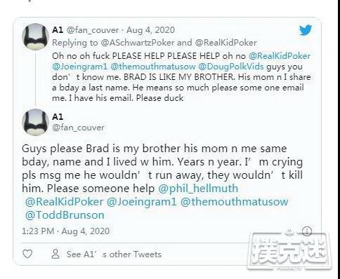 前高额桌职业选手Brad Booth失踪,情况令人担忧