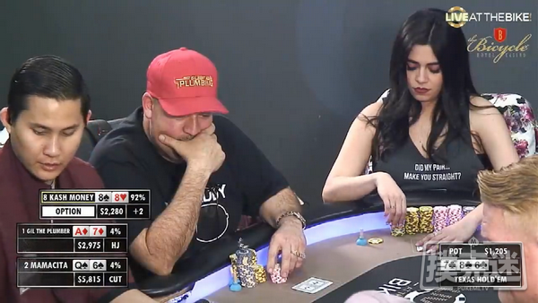 葫芦扮弱,引诱对手全下诈唬 |德州扑克牌局解析