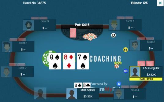 德州扑克有趣的3bet底池