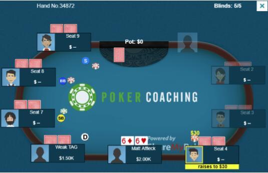 德州扑克惊悚牌面的暗三条