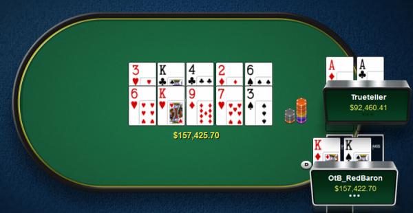 德州扑克Timofey Kuznetsov拿着A-A底牌连续两次被对手碾压