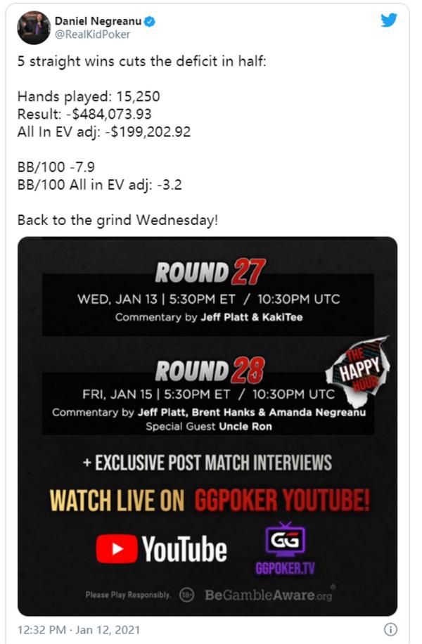 世纪恩怨局下半场:丹牛高歌猛进再赢下$132K!