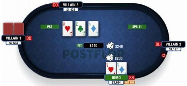 德州扑克在干燥公共牌面游戏暗三条-2