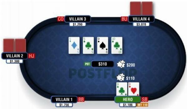 德州扑克翻牌圈击中葫芦或四条-2