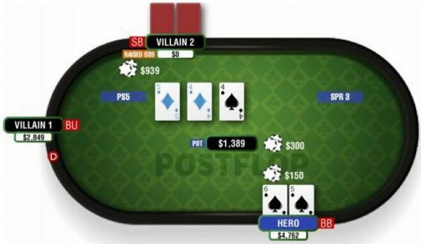 德州扑克由顶对和翻牌面对子构成的两对-2