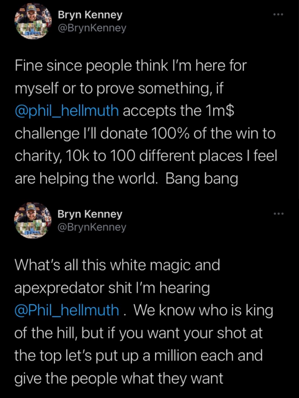Bryn Kenney向Hellmuth发起单挑战书 Venmo再爆丑闻