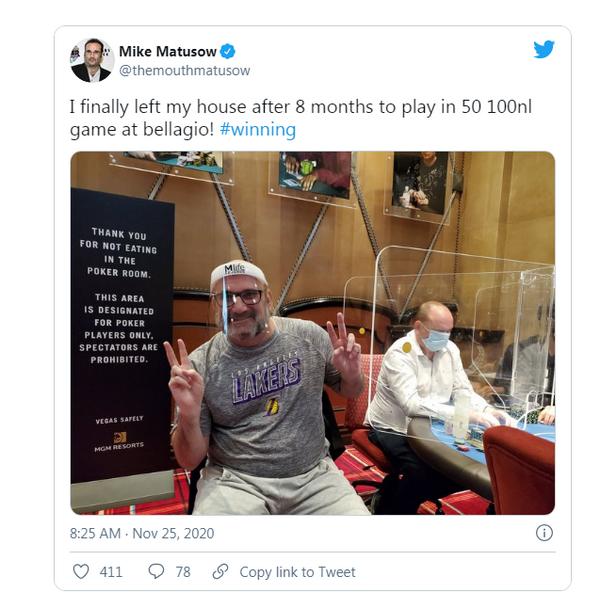 """大嘴 ""Mike Matusow到底怎么了?"